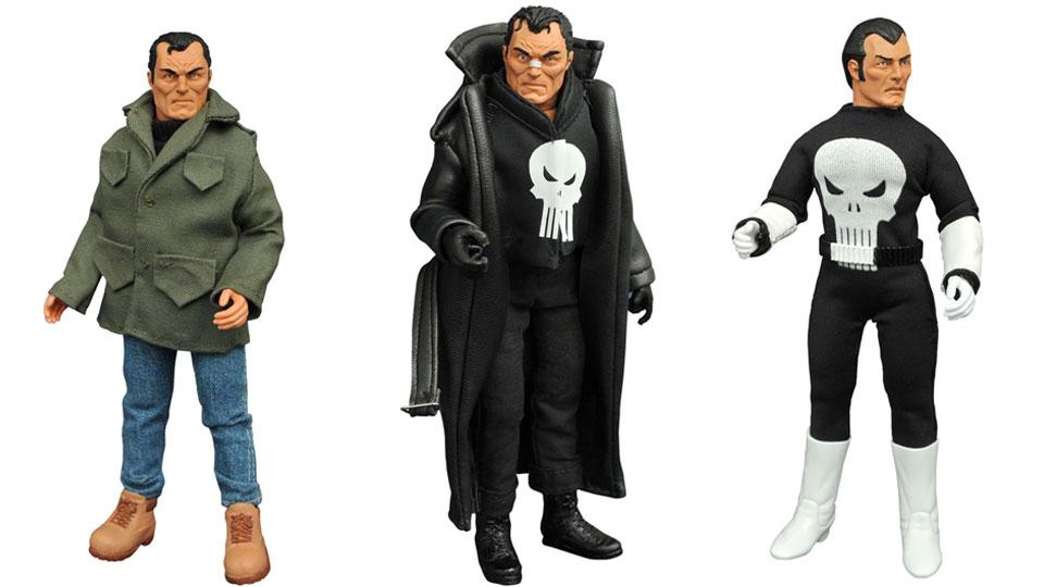 Diamond Select Toys Marvel Comics Retro Mego Style Punisher Figure