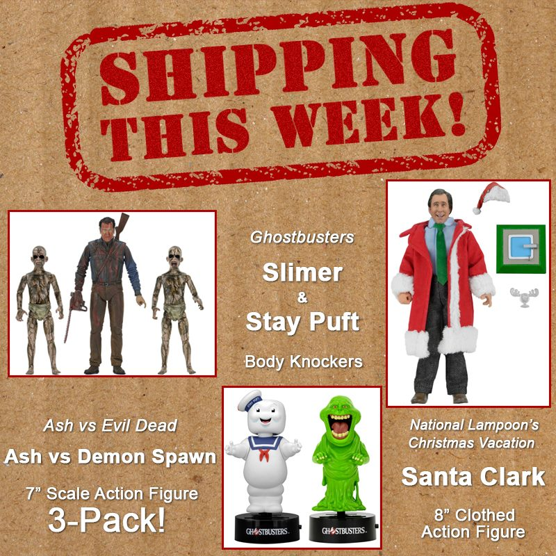 NECA Toys Shipping This Week: Ash Vs. Demon Spawn, Ghostbusters, & Santa Clark
