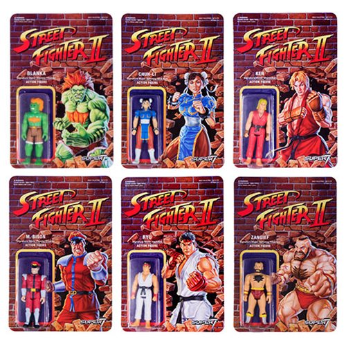 Super 7 Street Fighter II Retro Action Figures Wave 1