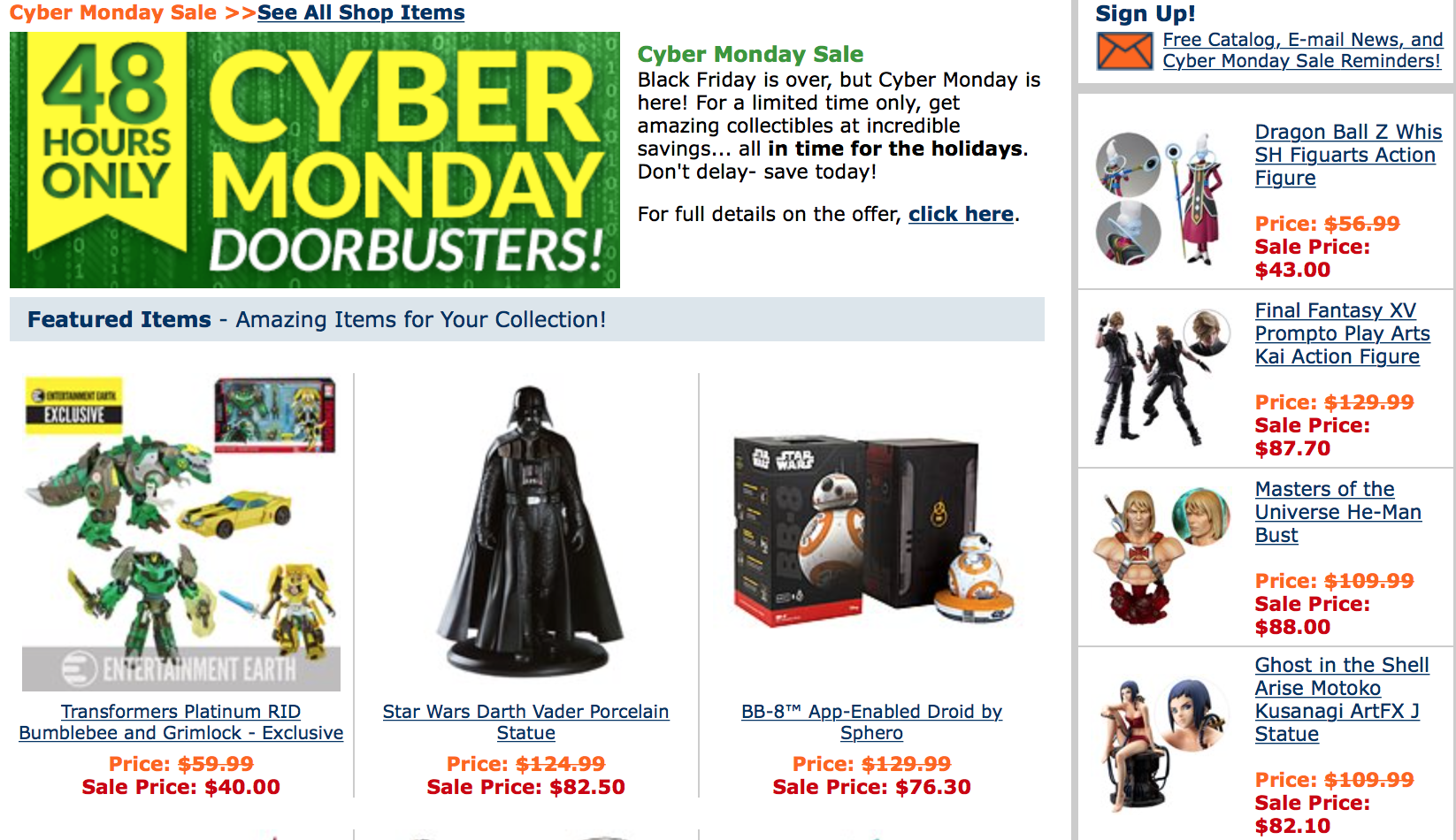Last Day Of Entertainment Earth's Cyber Monday Sale – Free Shipping On All In Stock Items & More
