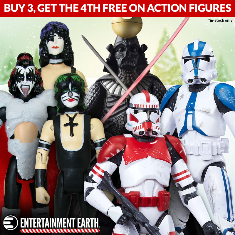 Entertainment Earth Offers A Free 4th Action Figure With Purchase Of 3
