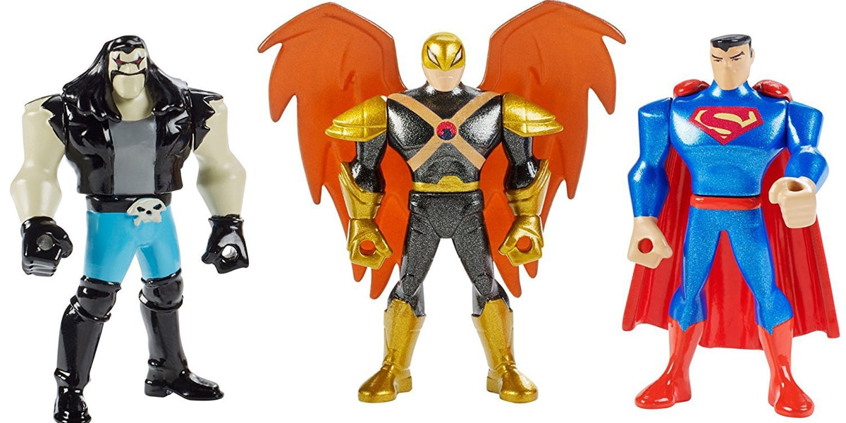 Mattel 2″ Justice League Animated Action Figures New 3 Packs