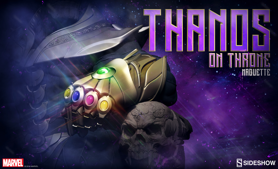 Sideshow Thanos On Throne Maquette Preview