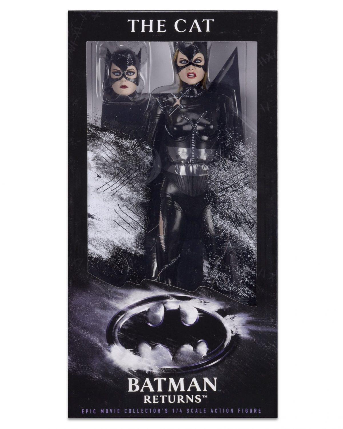 NECA Toys 1/4″ Scale Batman Returns Catwoman Figure Front Packaging Preview