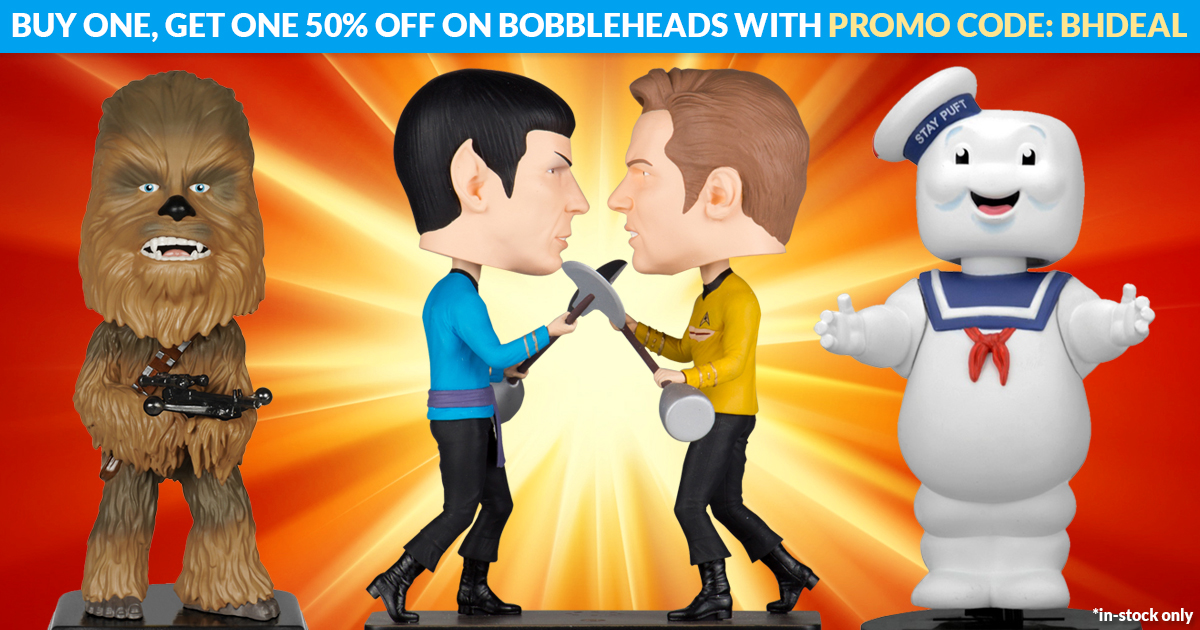 Entertainment Earth Offers 50% Off BOGO Sale On Bobble-Heads
