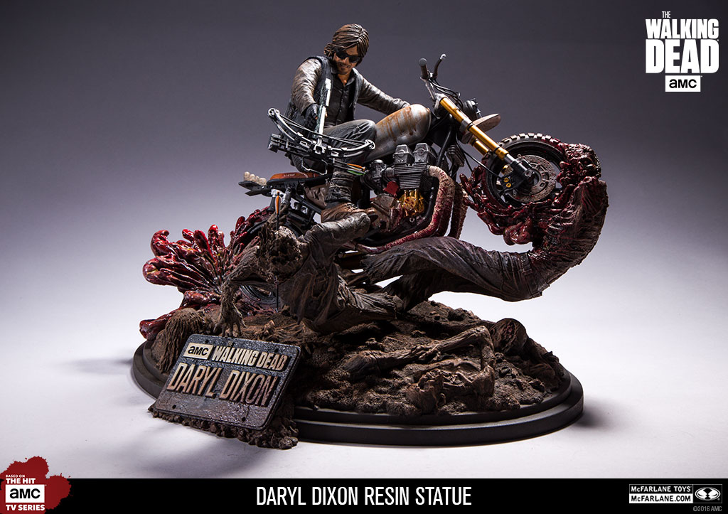 McFarlane Toys The Walking Dead Daryl Dixon Resin Statue Available February 8th