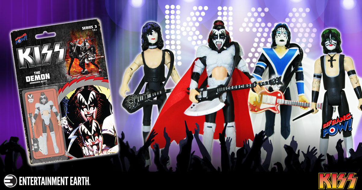 Bif Bang Pow! KISS Action Figures Are Now Blister Carded