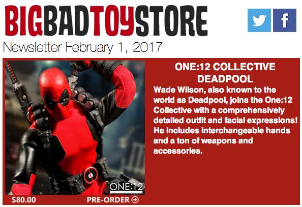 BigBadToyStore: Deadpool, Transformers, Godzilla, Zelda, Harley Quinn, Terminator & More