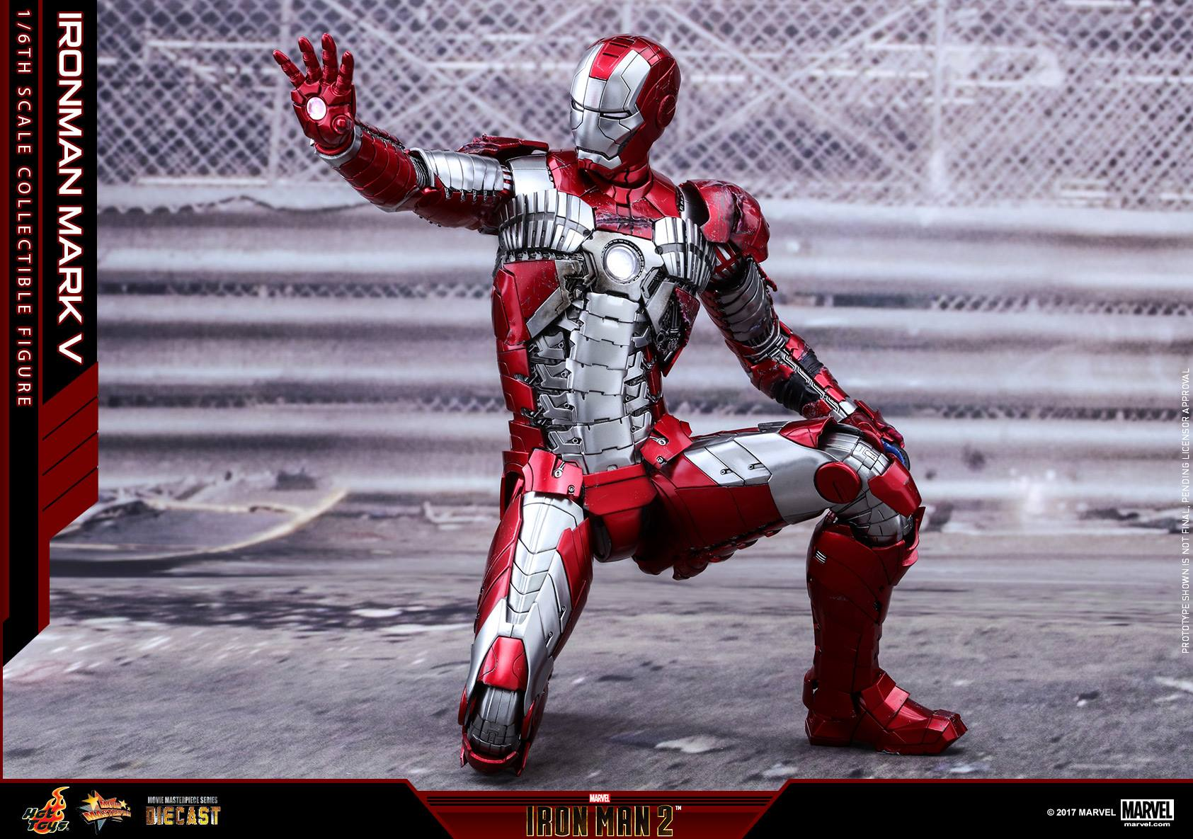 Hot Toys Iron Man Mark V Diecast Sixth Scale Figure
