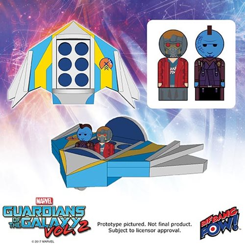 Guardians Of The Galaxy Vol. 2 Pin Mate Wood Milano Set With Masked Star-Lord & Yondu