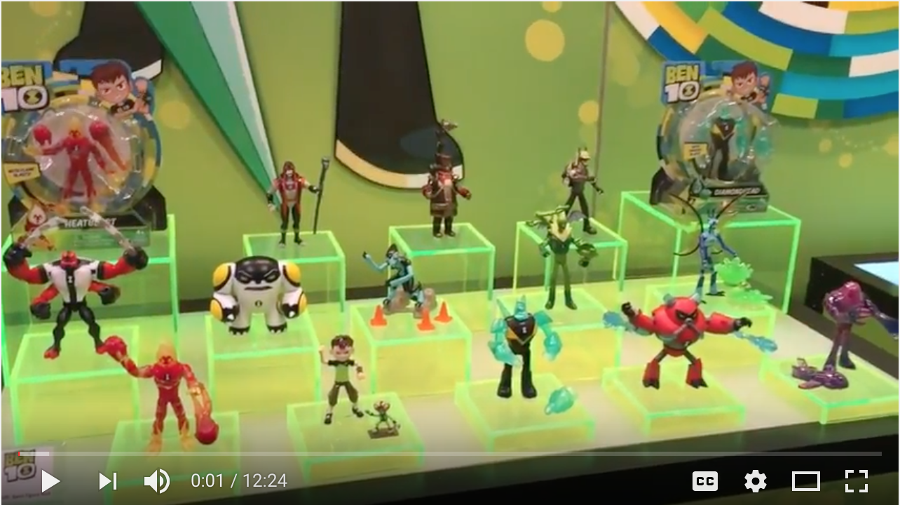 NYTF 2017 – Playmates Toys Ben 10 Video Interview & Walkthrough