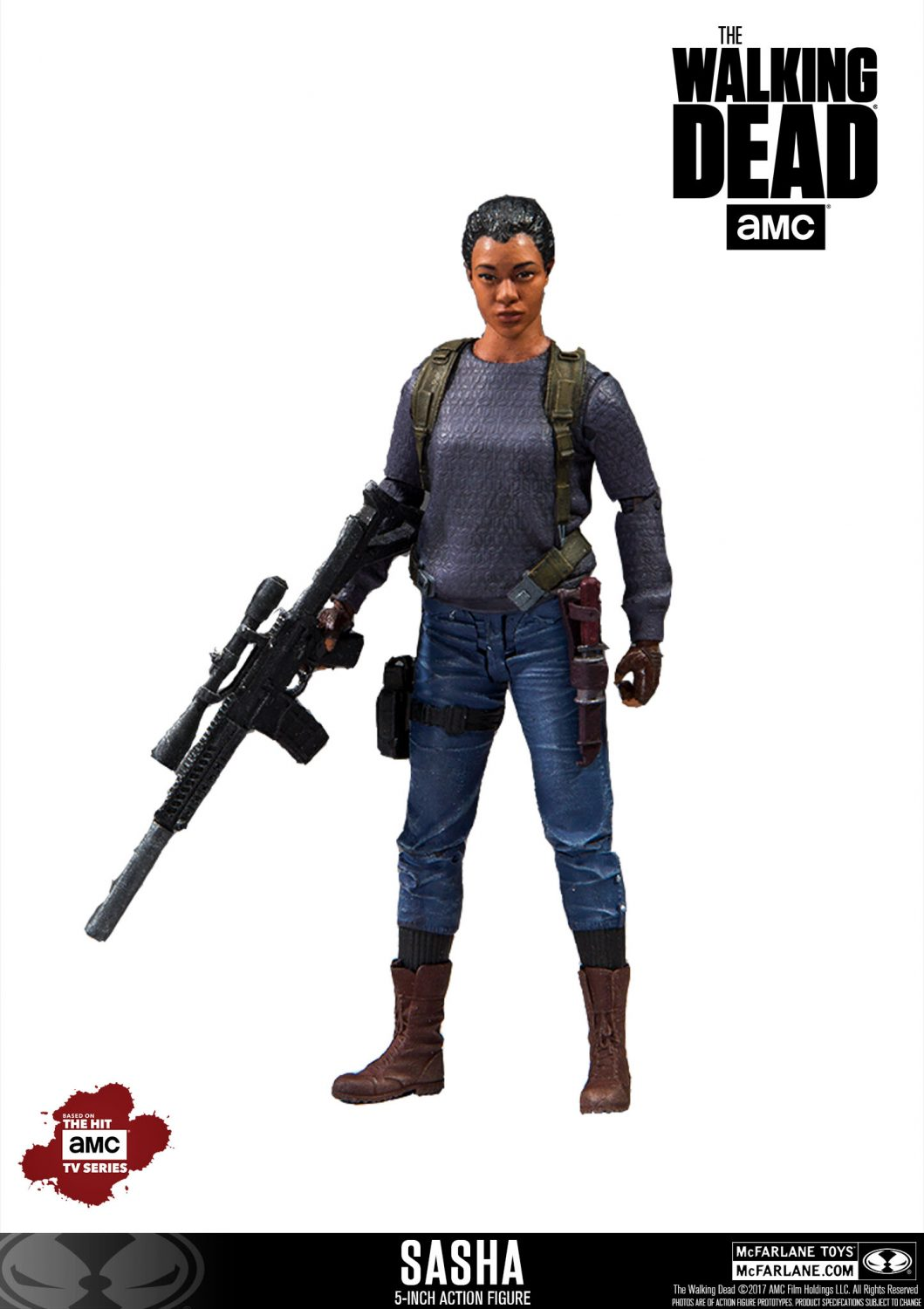 McFarlane Toys The Walking Dead Walgreens Exclusive 5″ Sasha Figure Official Images