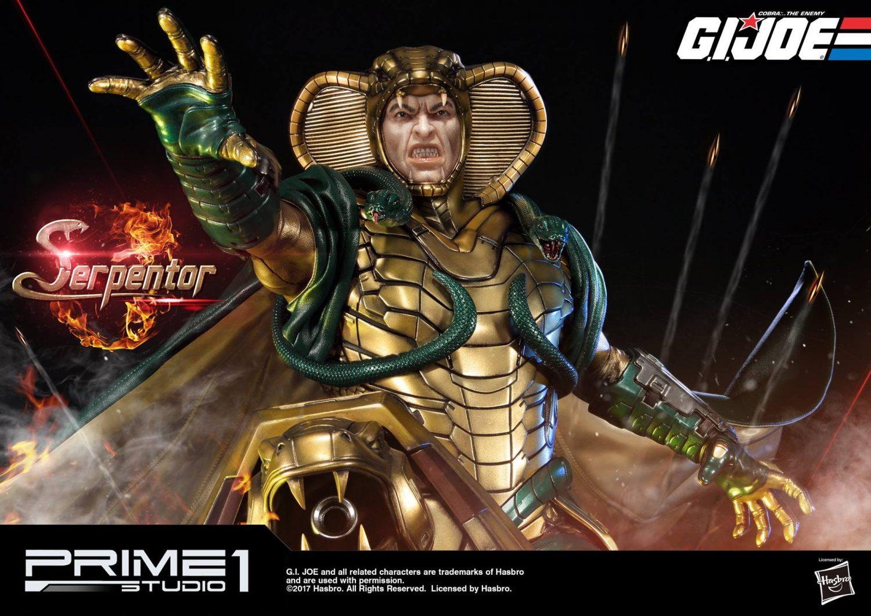 Prime 1 Studio G.I. Joe Serpentor Statue Official Details & Images