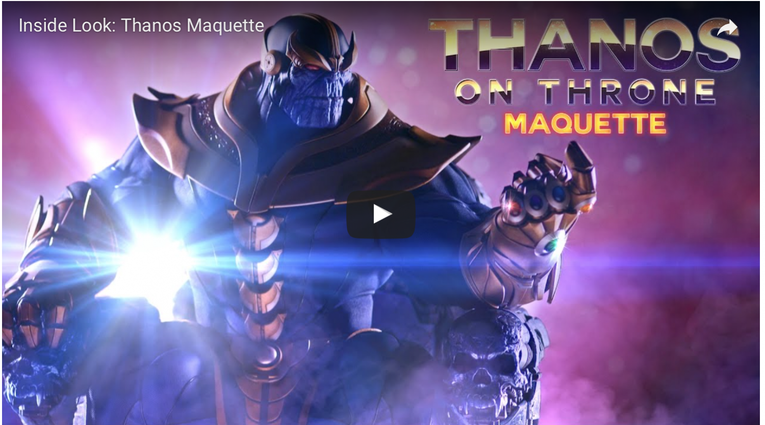 Sideshow Collectibles Marvel's Thanos On Throne Maquette Video Preview