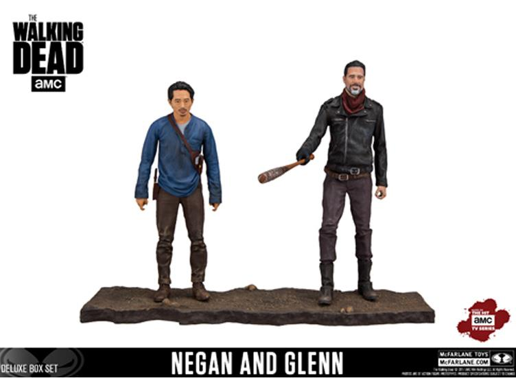 McFarlane Toys The Walking Dead Negan & Glenn Deluxe Box Set Updated Look