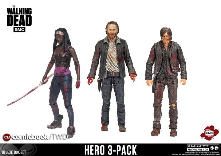 McFarlane Toys The Walking Dead Blood Splattered 10″ Glenn & 3 Pack Exclusive