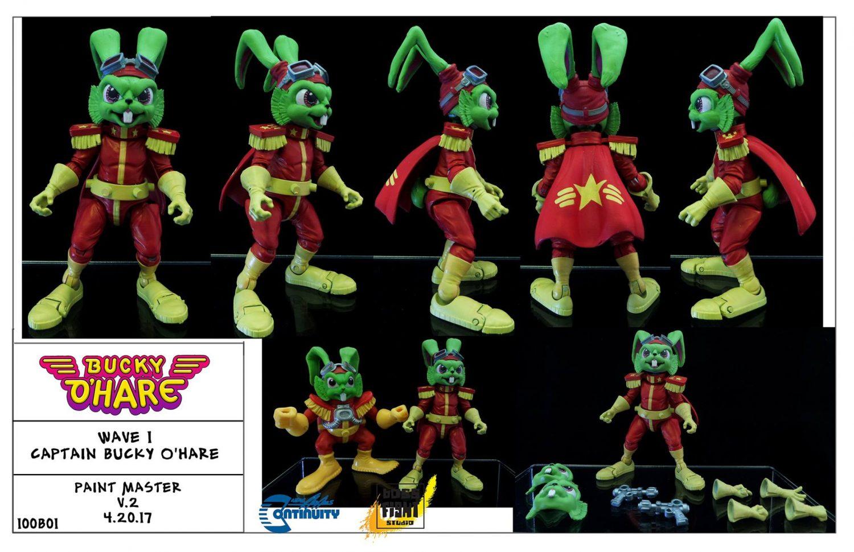 Boss Fight Studio's 4″ Bucky O'Hare & Jenny Full Figure Reveals