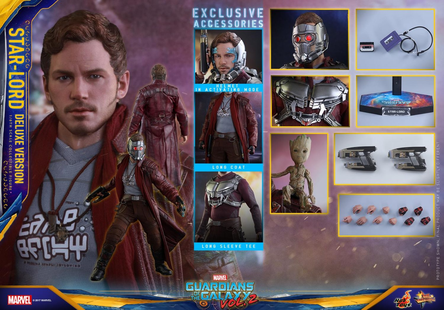 Hot Toys Guardians Of The Galaxy Vol. 2 Star-Lord Sixth Scale Figure Pre-Orders