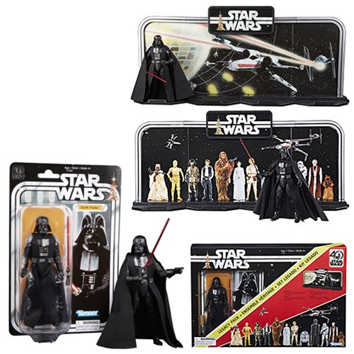 Hasbro Star Wars TBS 6″ Legacy Pack 40th Anniversary With Darth Vader Now $9.78 At GameStop