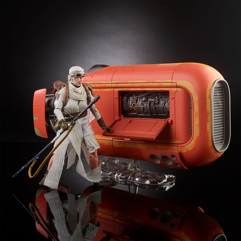 Hasbro Star Wars The Black Series 6″ Rey With Speeder