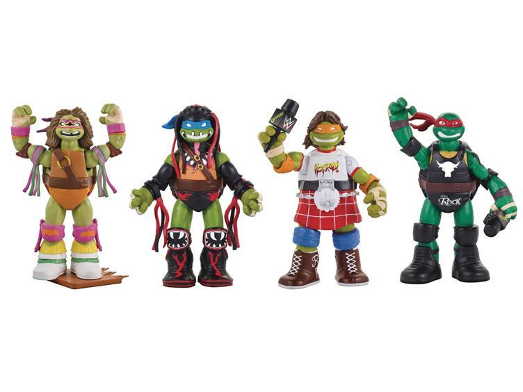 Playmates Toys Teenage Mutant Ninja Turtles WWE Wave 2 Pre-Orders On Entertainment Earth