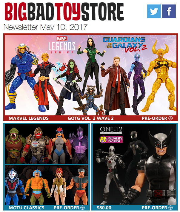 BigBadToyStore: GotG2 Legends, One:12, TMNT, Star Wars Black, Transformers, Batman 1966, Voltron & More