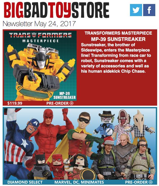 BigBadToyStore: MP-39 Sunstreaker, Mafex Joker/Bane, Ghostbusters, Wolverine, DBZ, Naruto, Ghosts 'n Goblins, Naruto & More