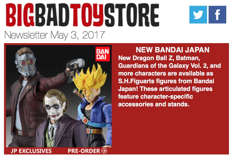BigBadToyStore: Power Rangers, DBZ, GOTG, Mortal Kombat, DC Multiverse, Marvel Legends, Star Wars & More