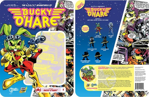 Boss Fight Studio's 4″ Bucky O'Hare Figure Packaging