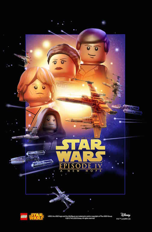 LEGO Celebrates Star Wars 40th Anniversary With Y-Wing Fighter & LEGO Inspired Movie Poster