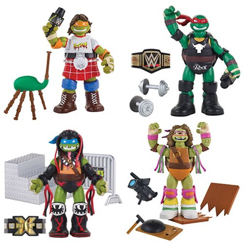 Playmates Toys Teenage Mutant Ninja Turtles WWE Wave 2 New Figure Details & Images