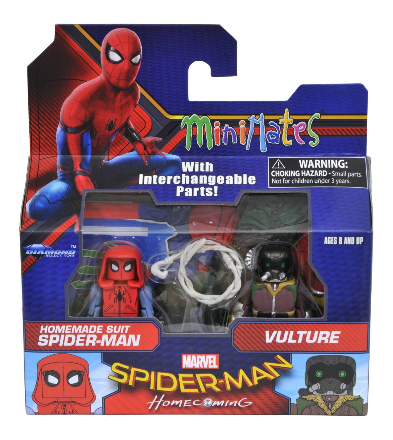Diamond Select Toys Spider-Man: Homecoming Minimates Official Packaging Images