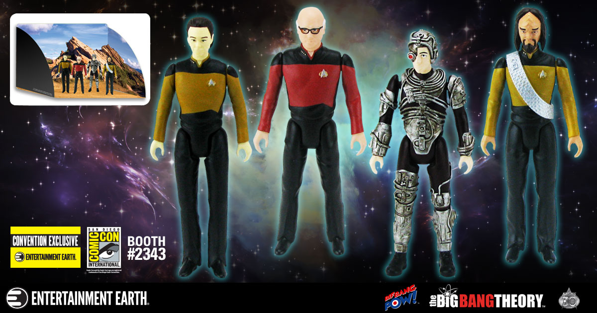 First-Look: SDCC 2017 Exclusive Big Bang Theory / Star Trek: The Next Generation Figure Set
