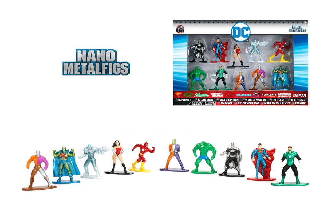 JADA Toys DC Nano Metal Figures 5 & 10 Pack Revealed