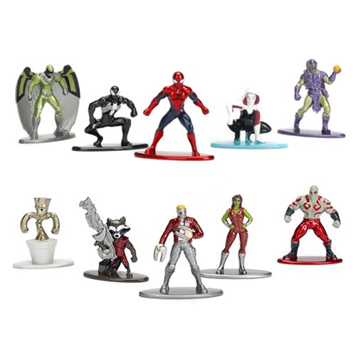 Jada Toys Marvel Nano Metalfigs Die-Cast Mini-Figures 5-Pack & 10-Pack Sets
