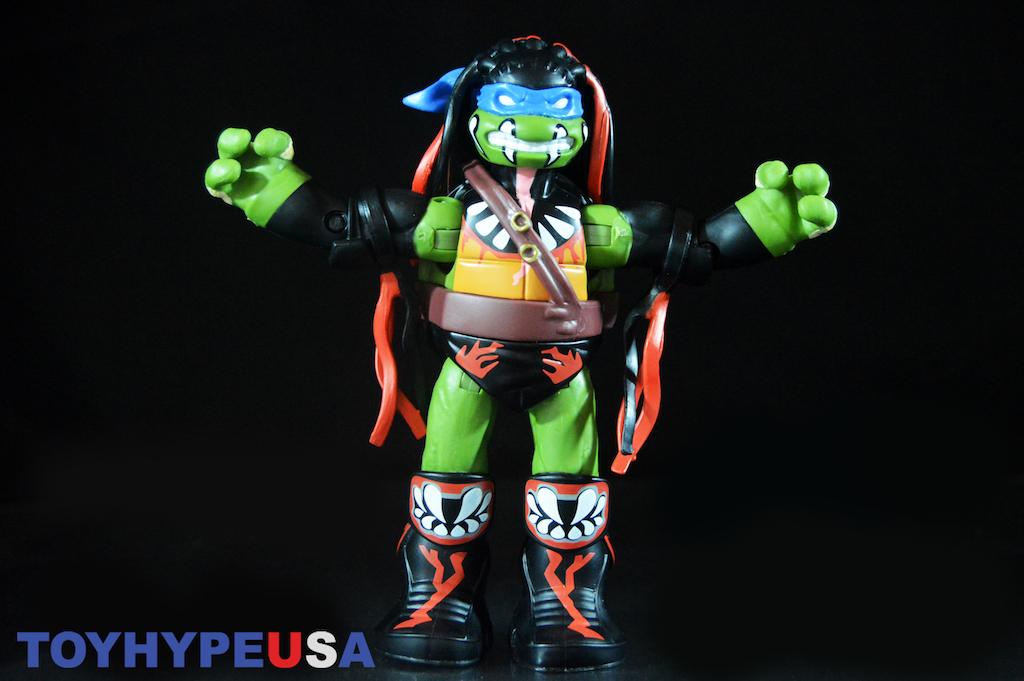 Playmates Toys Teenage Mutant Ninja Turtles WWE Leonardo As Finn Balor 6″ Figure Review