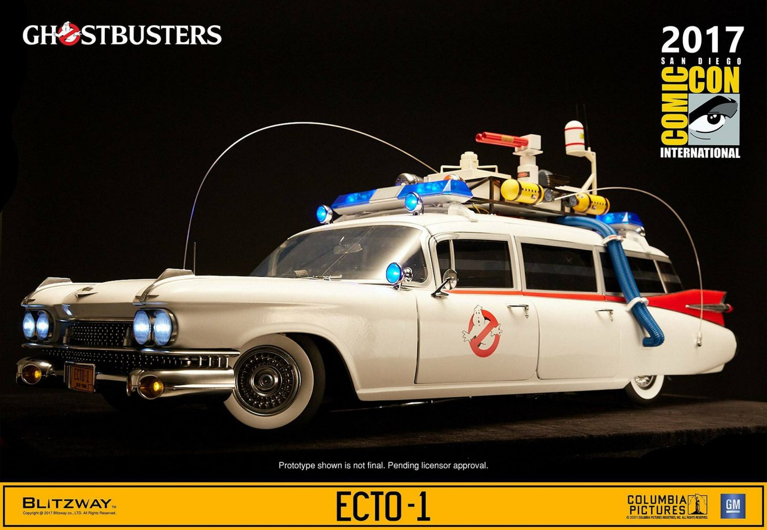 Blitzway Ghostbusters Ecto-1 Sixth Scale Vehicle Official Product Images