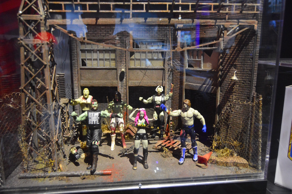 SDCC 2017 – Mattel – WWE 6″ Figures Booth Coverage – Zombies Wave 2, Wrestling Ring & More