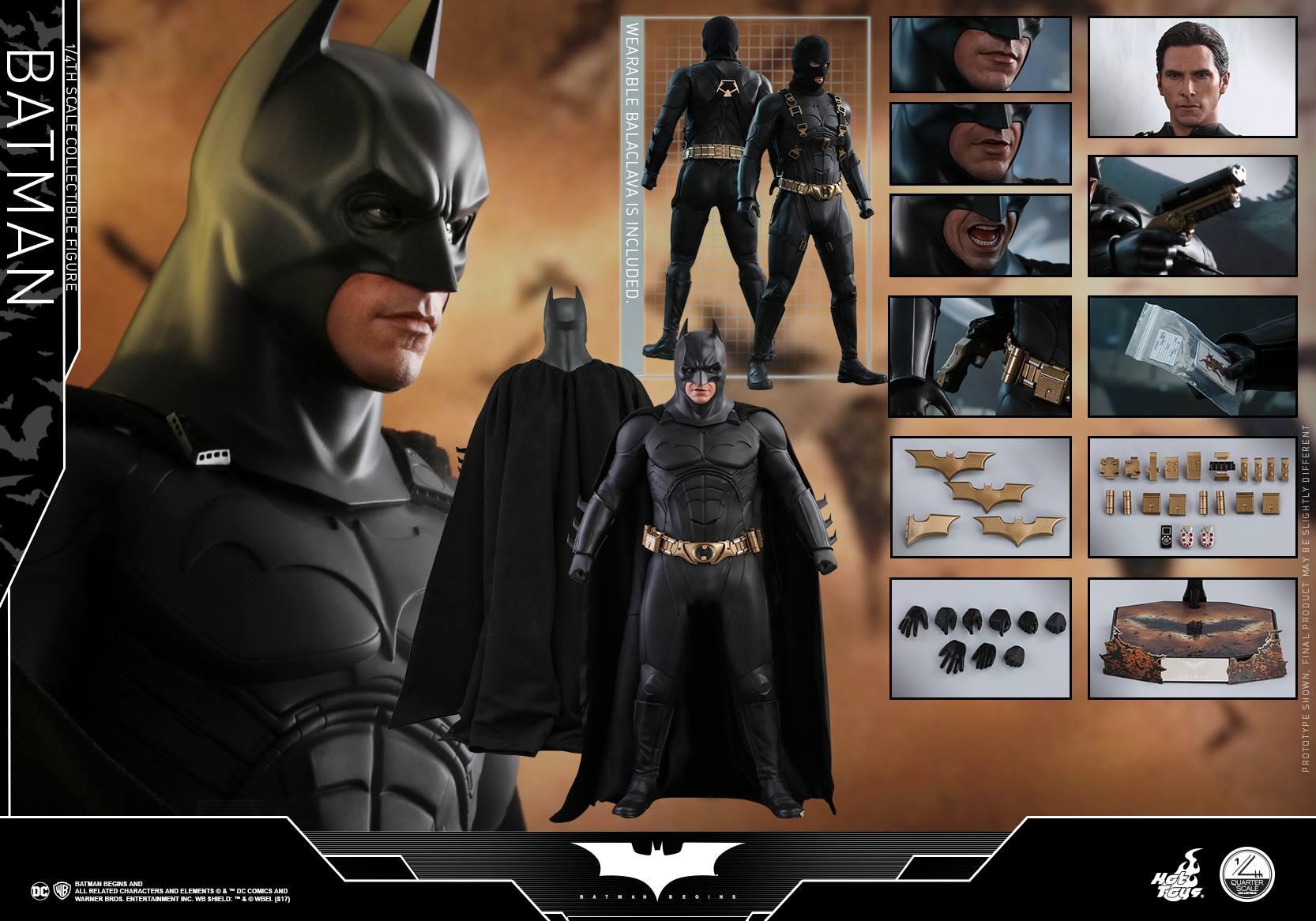 Hot Toys Justice League Dark Knight Trilogy Batman Quarter Scale Figure Pre-Orders