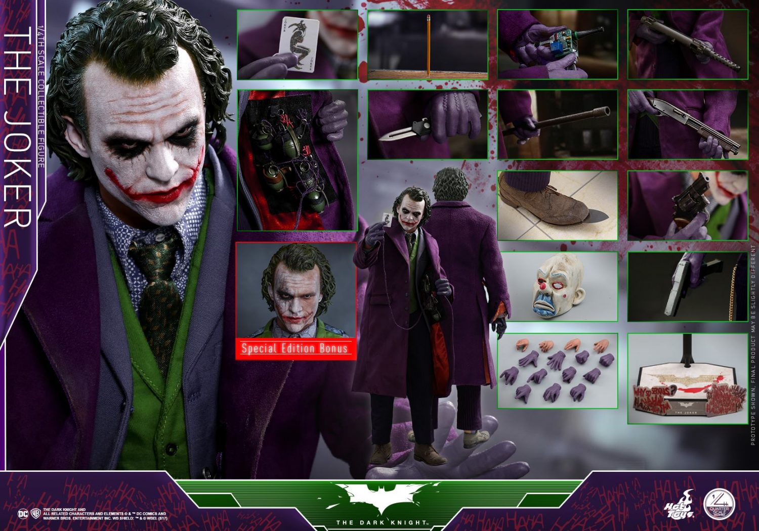 Hot Toys The Dark Knight – 1/4th Scale The Joker Pre-Orders