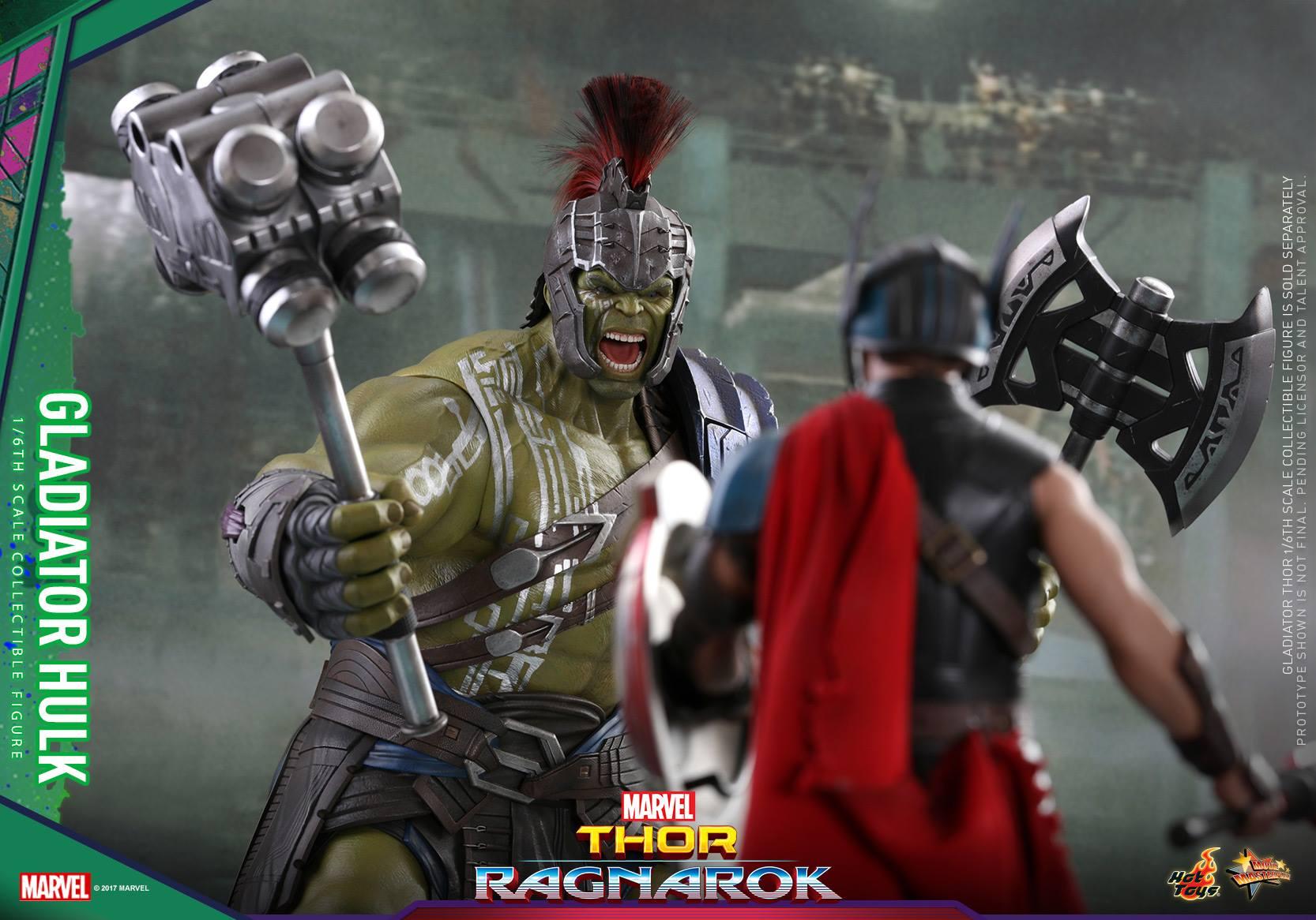 Hot Toys Thor: Ragnarok Hulk & Thor Sixth Scale Figures