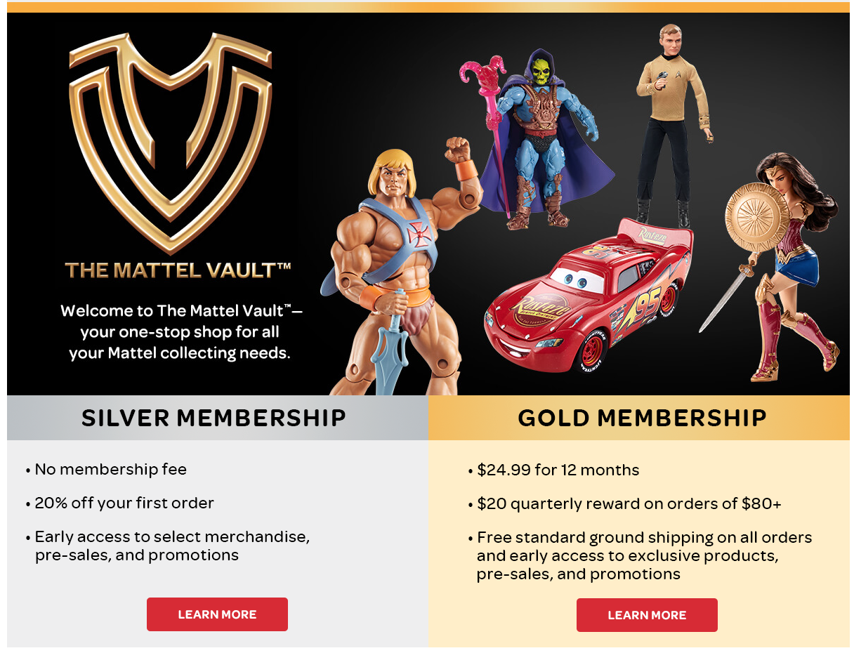 Mattel Shop Opens New Membership Program With Exclusive Offers & Products