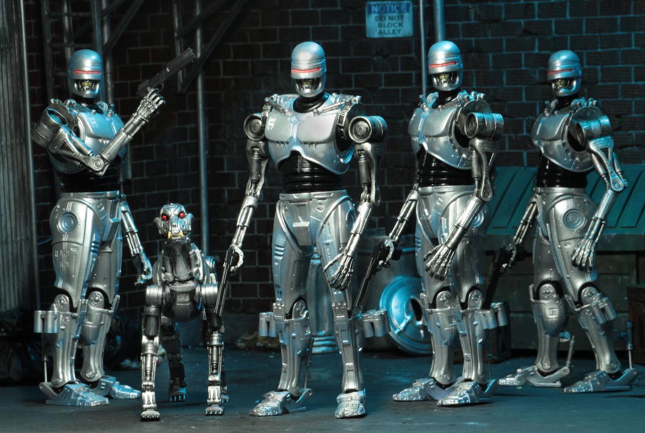 NECA Toys Robocop Vs. Terminator EndoCop & Terminator Dog 2-Pack Official Details & Images
