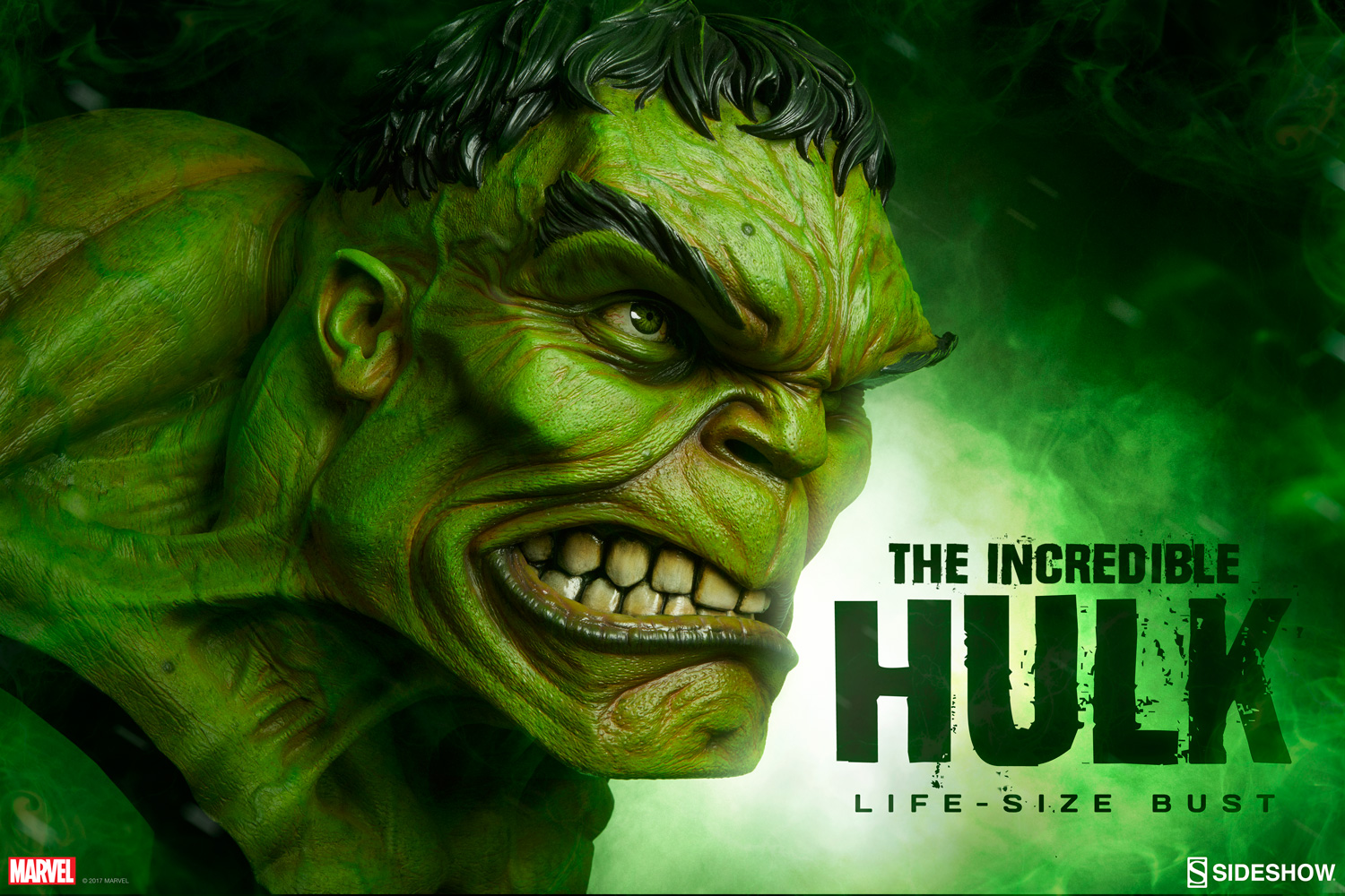 Sideshow Collectibles The Incredible Hulk – Life-Size Bust Pre-Order