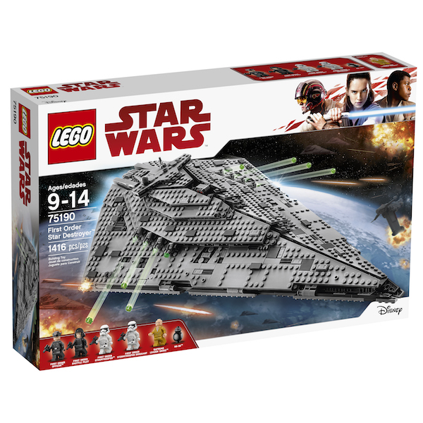 LEGO Star Wars The Last Jedi Construction Sets Available Now