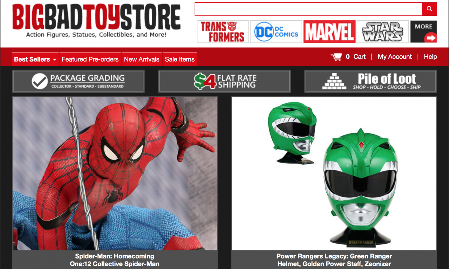 BigBadToyStore: Spider-Man, Power Rangers Legacy, Titans Return, Hannibal Lecter, Mortal Kombat, T-Shirts & More