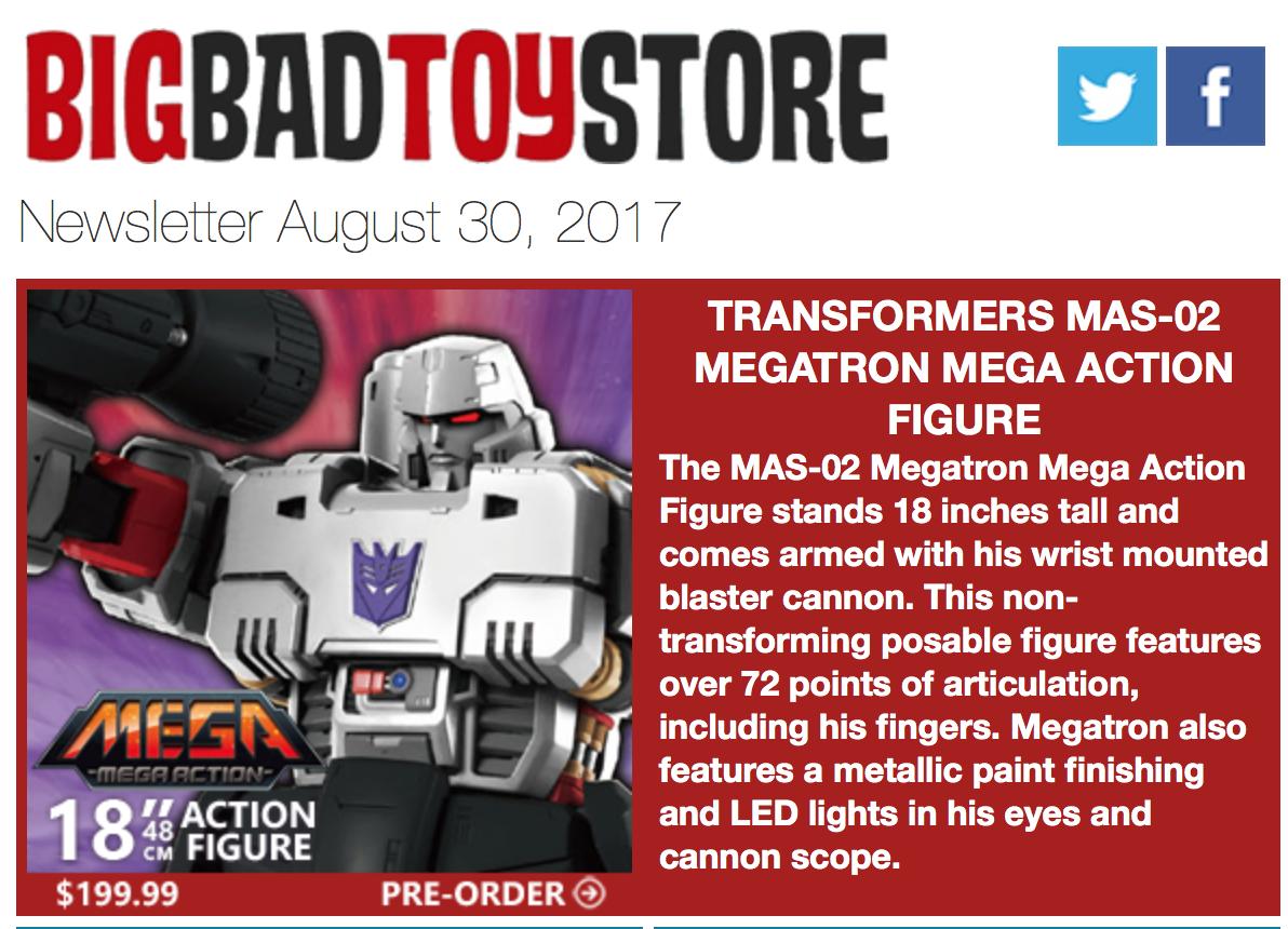 BigBadToyStore: Megatron, Pickle Rick, Mechagodzilla, Street Fighter, Hellboy, GotG Vol2, TMNT & More