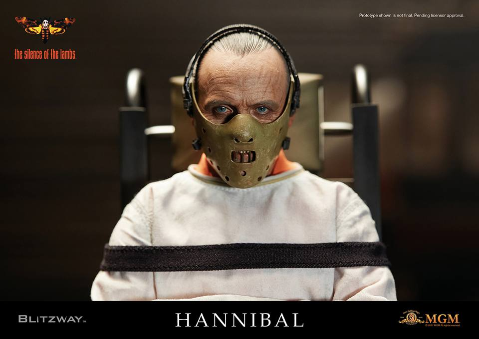 Blitzway: The Silence Of The Lambs Hannibal Lecter Straitjacket & White Prison Uniform Figures
