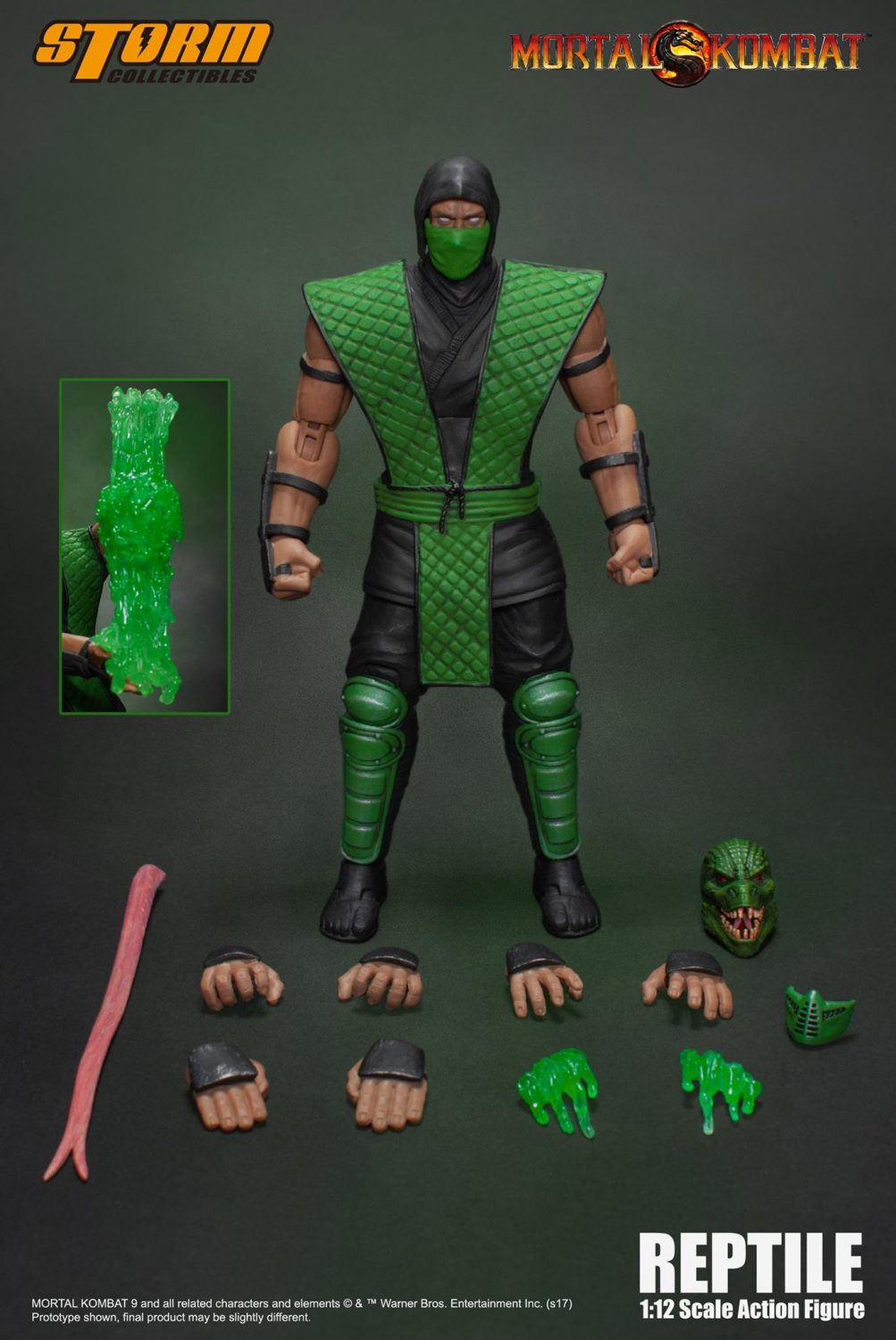Storm Collectibles Mortal Kombat Reptile Special Edition 1/12th Scale Figure