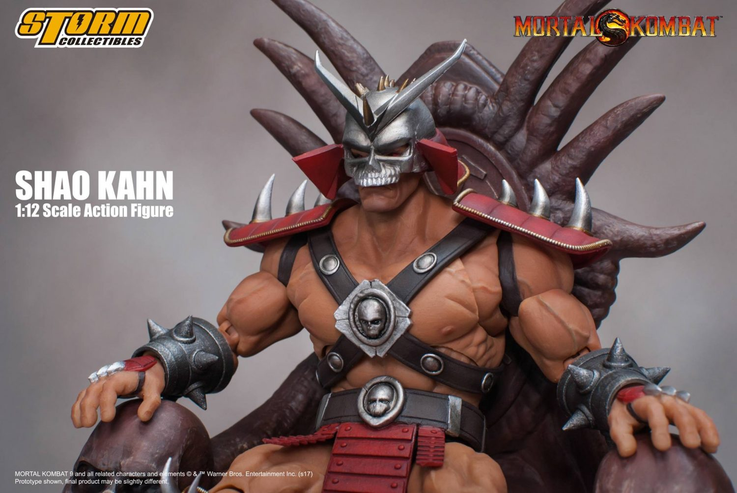 Storm Collectibles Mortal Kombat Shao Kahn 1/12th Scale Figure